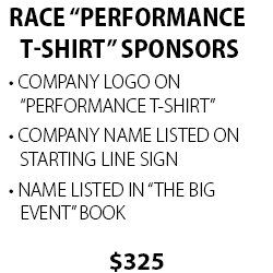"Race ""Performance T-Shirt"" Sponsors"
