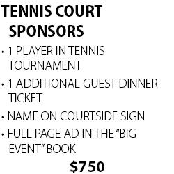 Tennis Court Sponsors